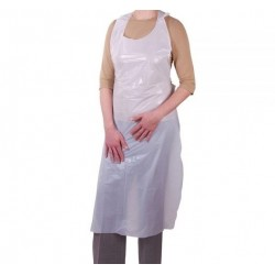 Disposable WHITE Apron - 100pcs. MakeUp Supply