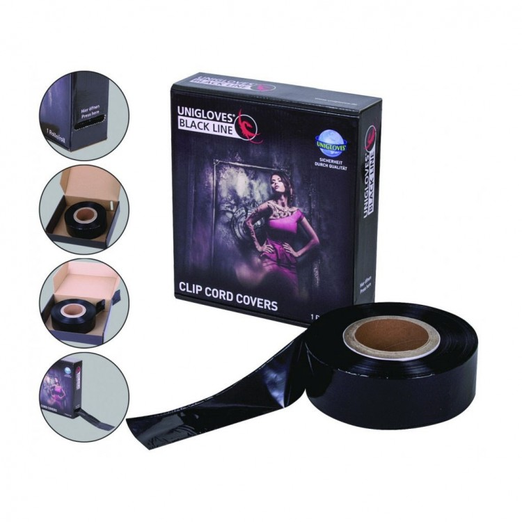 Black Clip Cord Sleeve on Roll - 365mt. MakeUp Supply